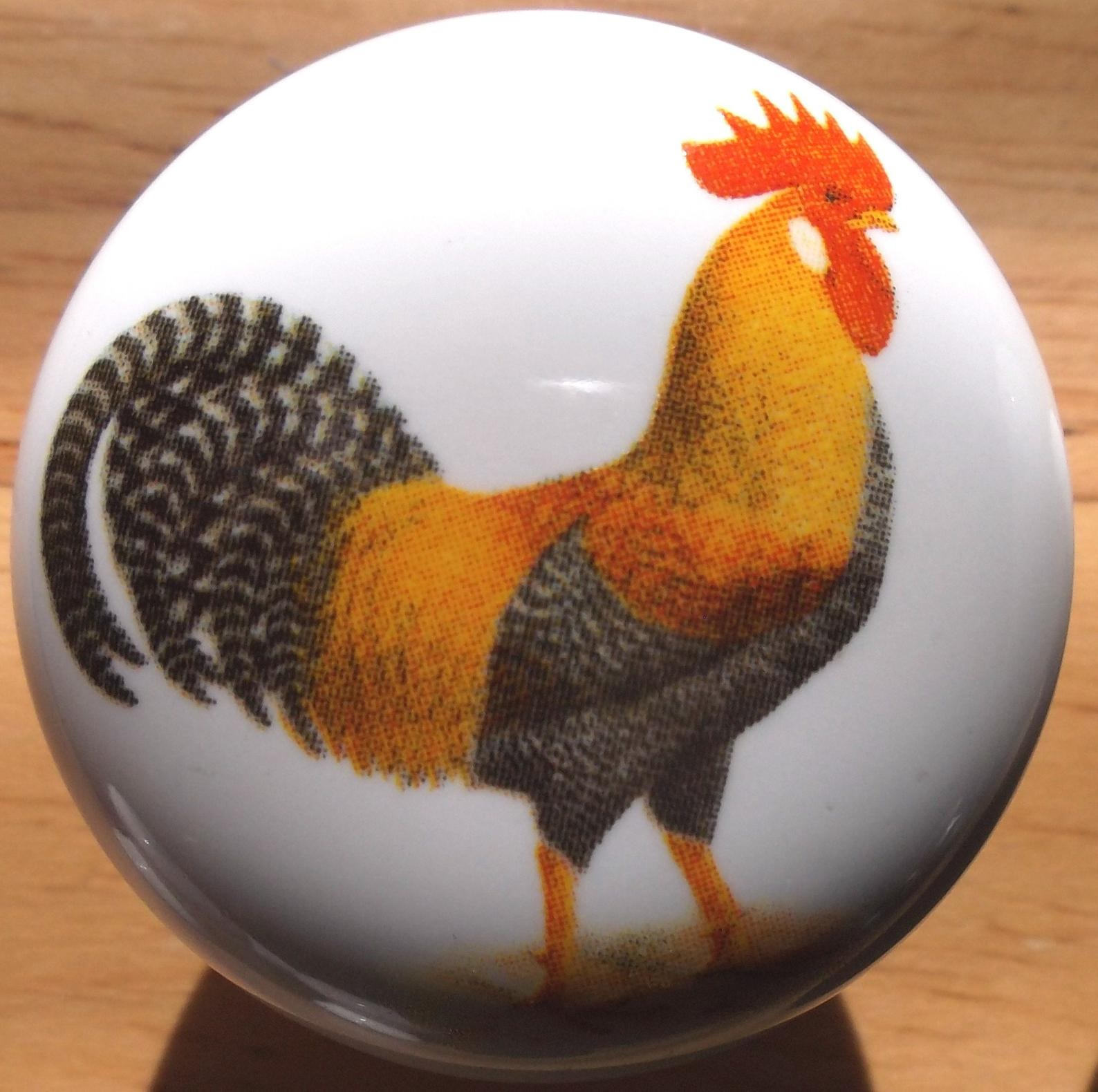 Ordinaire CERAMIC CABINET KNOB Rooster HEN Chicken