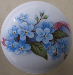Cabinet Knob Forget me nots FLOWER