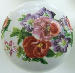 Cabinet Knob pansy FLOWER