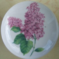 Cabinet Knob pink lilac pulls flower