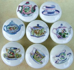 Cabinet Knobs Teapot & Cups