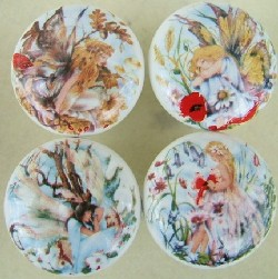 Cabinet knobs w/ Floral Fairies