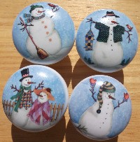 Cabinet knobs snowmen snowman christmas images